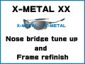 Oakley X-Metal XX Nosebridge Tune Up Service and X-Metal Color Frame Refinish