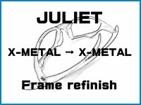 Oakley Juliet Nosebridge Tune Up Service and X-Metal Color Frame Refinish