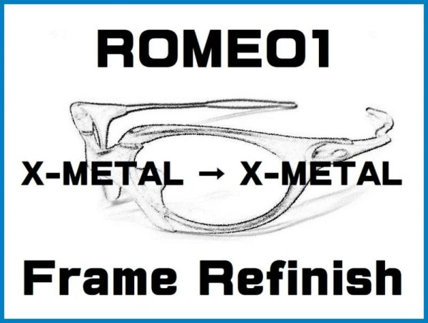 Photo1: Oakley Romeo1  X-Metal Color Frame Refinish