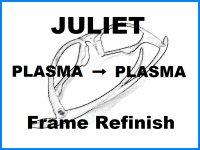 Oakley Juliet Nosebridge Tune Up Service and PLASMA Color Frame Refinish