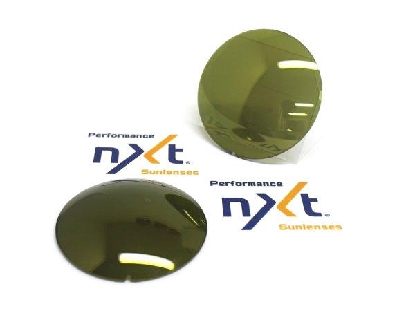 Photo1: NXT Lens  Dark green base  /  Gold mirror  [NXT-GGM]
