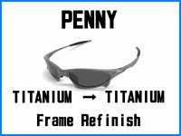 Oakley Penny Nosebridge Tune Up Service and TITANIUM Color Frame Refinish