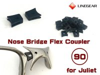 Replacement Nose Bridge Flex Coupler 90 Super Hard  - Black