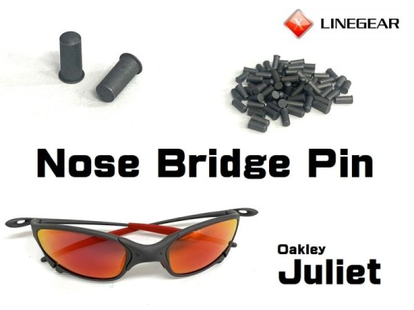 Photo1: Replacement Nose Bridge Pin for Juliet - X-Metal Color