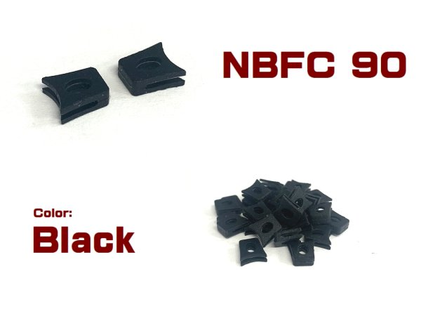 Photo2: Replacement Nose Bridge Flex Coupler 90 Super Hard  - Black