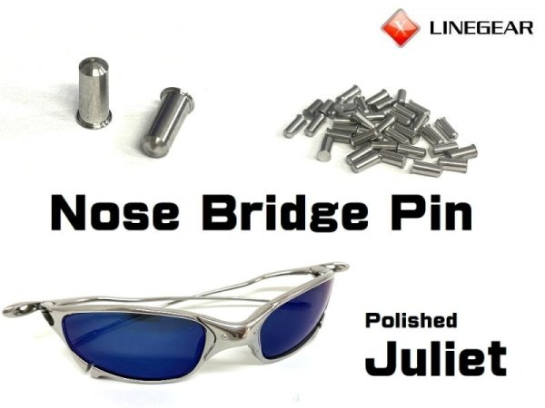Photo1: Replacement Nose Bridge Pin for Juliet -Polished