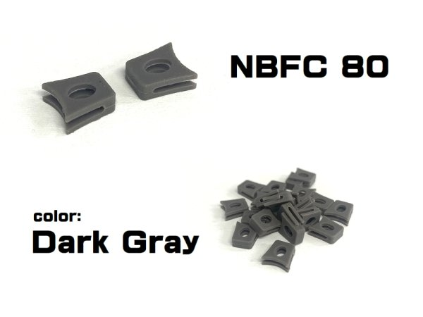Photo2: Replacement Nose Bridge Flex Coupler 80 - Dark Gray