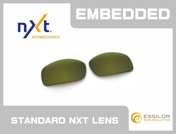 Photo1: X-SQUARED - Green / Gold - NXT® EMBEDDED - Non Polarized