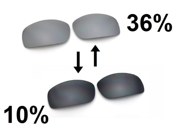 Photo2: X-SQUARED - Flash Black - NXT® POLARIZED VARIA™ Photochromic